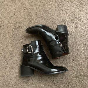 jeffrey campbell black buckle boots